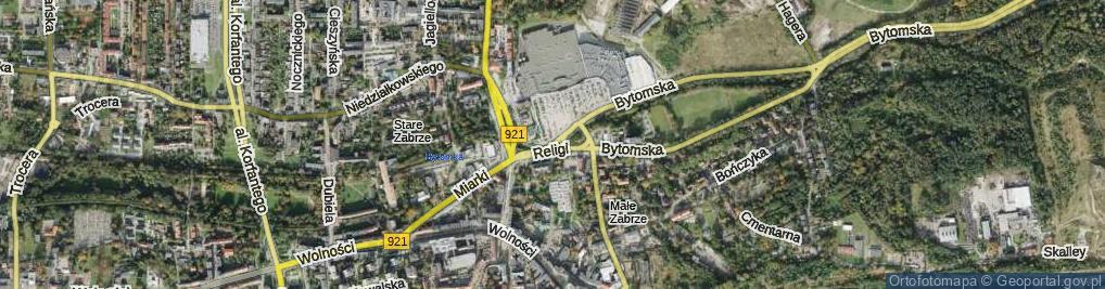 Zdjęcie satelitarne Religi Zbigniewa, prof. ul.