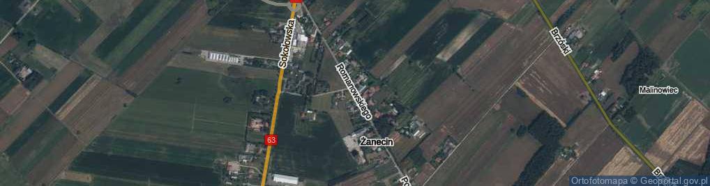 Zdjęcie satelitarne Romanowskiego, kmdr. ul.