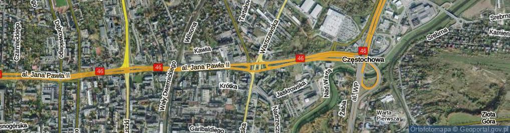 Zdjęcie satelitarne Rondo Trzech Krzyży rondo.