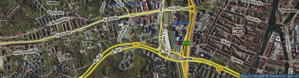 Zdjęcie satelitarne Rogaczewskiego Franciszka, ks. ul.