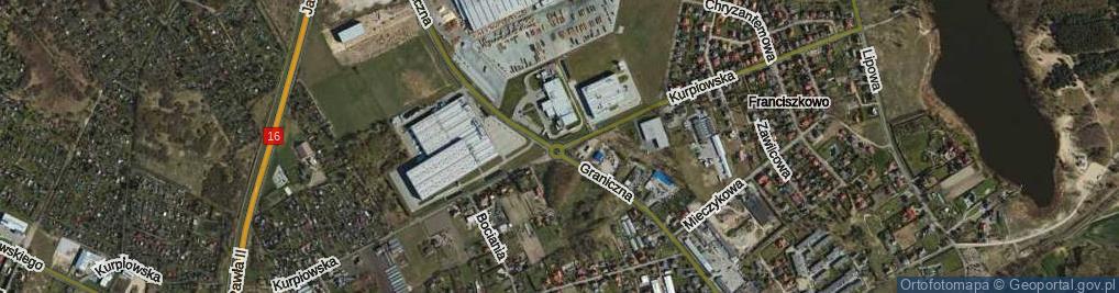 Zdjęcie satelitarne Rondo Grabskiego Władysława rondo.