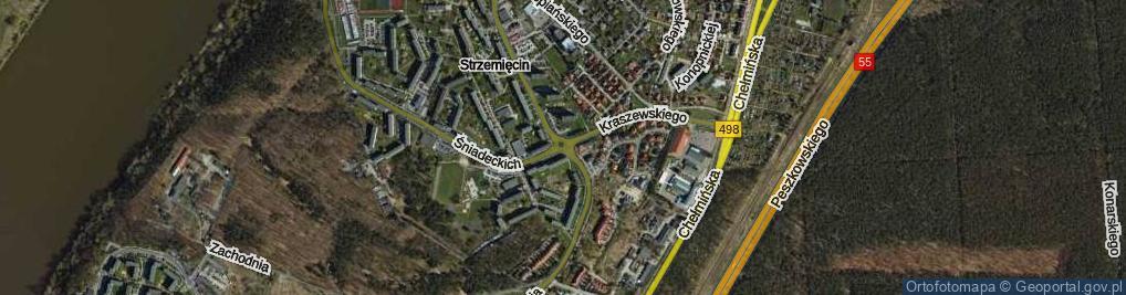 Zdjęcie satelitarne Rondo Jasienicy Pawła rondo.