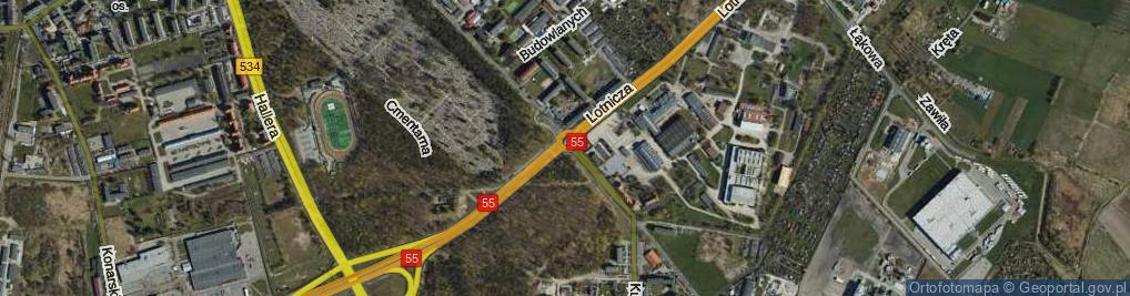 Zdjęcie satelitarne Rondo Lotników rondo.