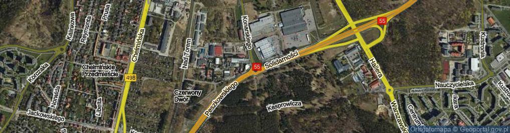 Zdjęcie satelitarne Rondo Popiełuszki Jerzego, bł. ks. rondo.