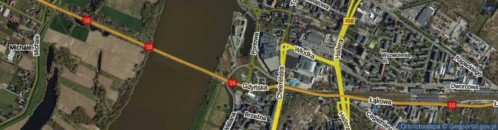 Zdjęcie satelitarne Rondo Rydza-Śmigłego Edwarda, marsz. rondo.