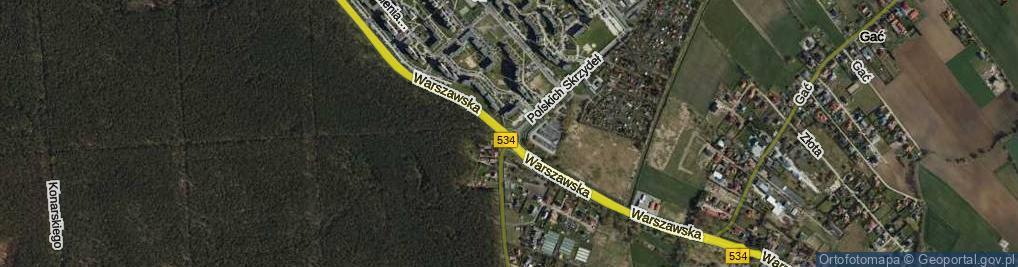 Zdjęcie satelitarne Rondo Skalskiego Stanisława, gen. rondo.