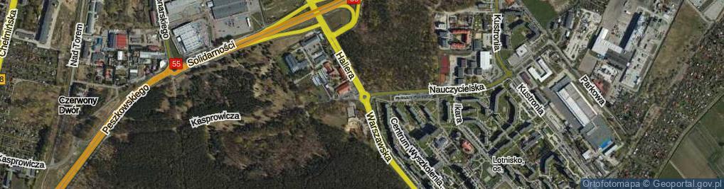 Zdjęcie satelitarne Rondo Sosabowskiego Stanisława Franciszka, gen. rondo.