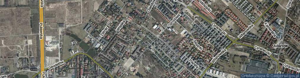 Zdjęcie satelitarne Rosiczki ul.