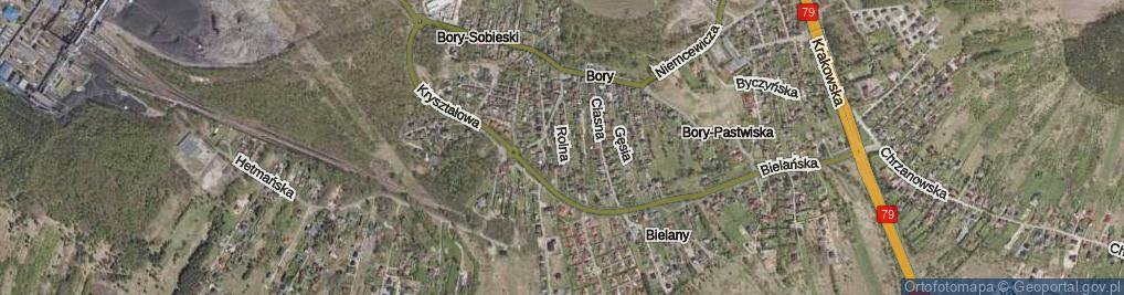 Zdjęcie satelitarne Rolna ul.