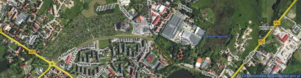 Zdjęcie satelitarne Rondo Kombatantów rondo.