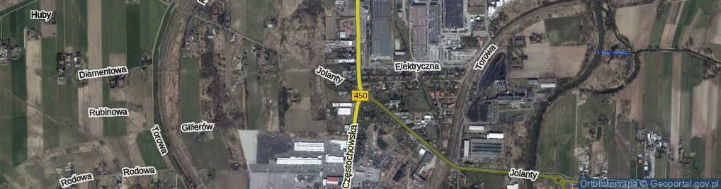 Zdjęcie satelitarne Rondo na Trakcie Wieluńskim rondo.
