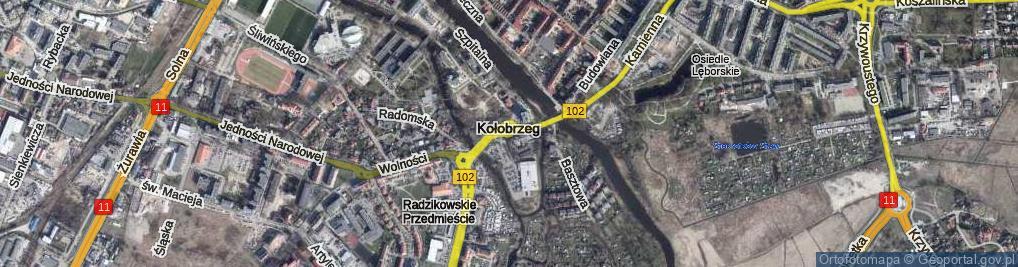 Zdjęcie satelitarne Rondo Jeża Ignacego, kard. rondo.