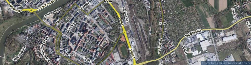 Zdjęcie satelitarne Rondo Niepodległości rondo.