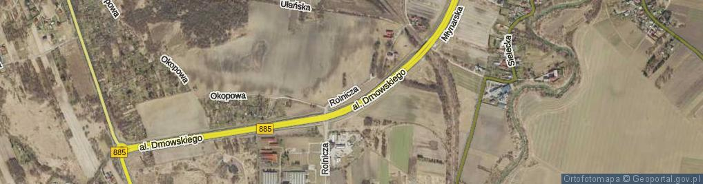 Zdjęcie satelitarne Rolnicza ul.