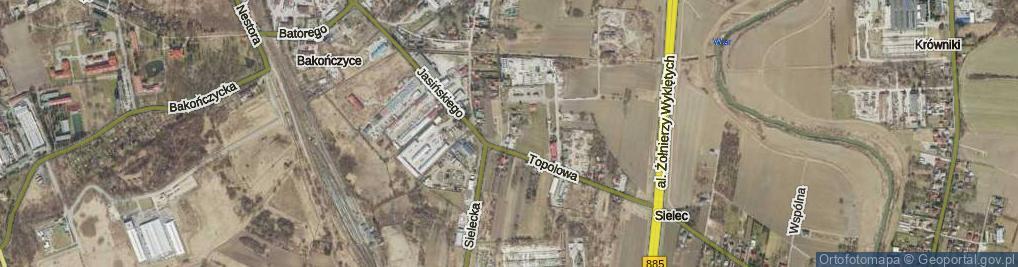 Zdjęcie satelitarne Rozdroże ul.