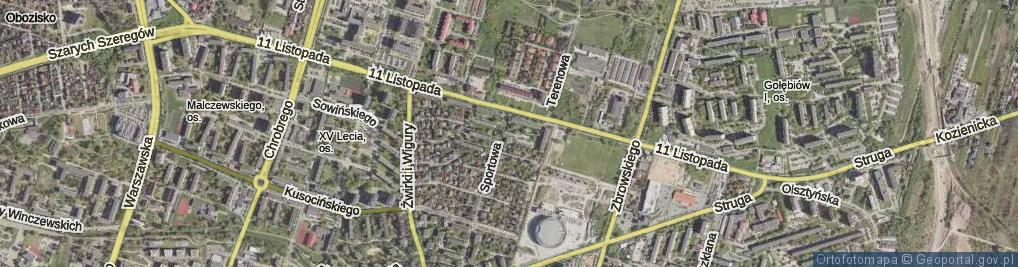 Zdjęcie satelitarne Ropelewskiego Antoniego Zygmunta, hm. mjr. ul.