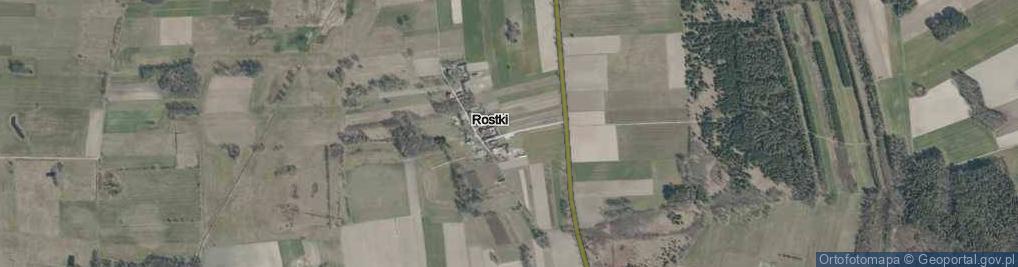 Zdjęcie satelitarne Rostki ul.