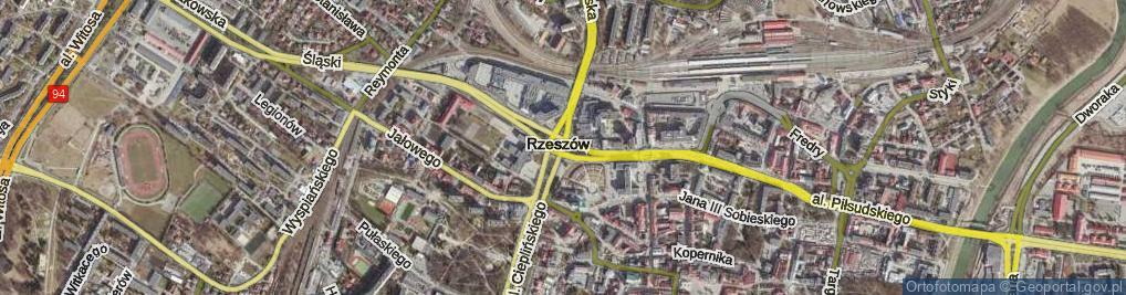 Zdjęcie satelitarne Rondo Dmowskiego Romana rondo.