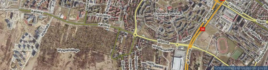 Zdjęcie satelitarne Rondo Pileckiego Witolda, rtm. rondo.
