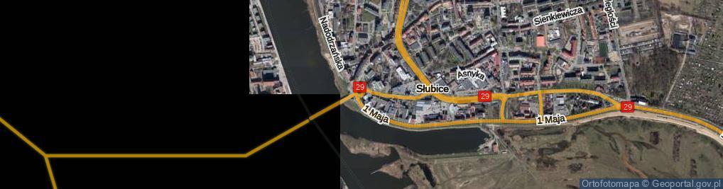 Zdjęcie satelitarne Rondo Solidarności rondo.