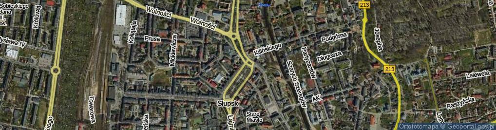 Zdjęcie satelitarne Rondo Staromiejskie rondo.