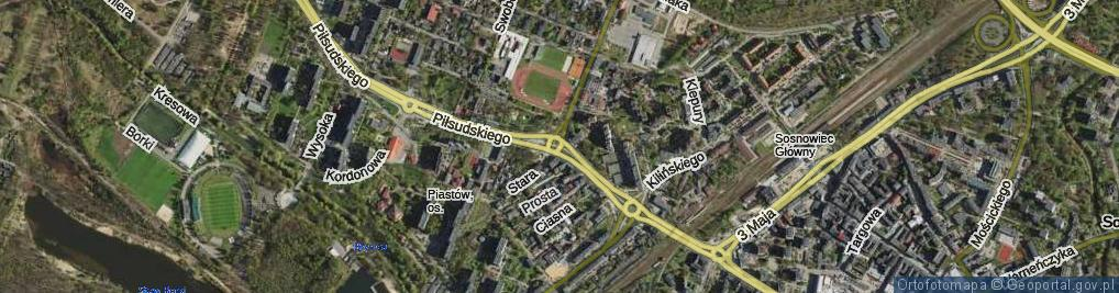 Zdjęcie satelitarne Rondo Uznańskiego Czesława rondo.