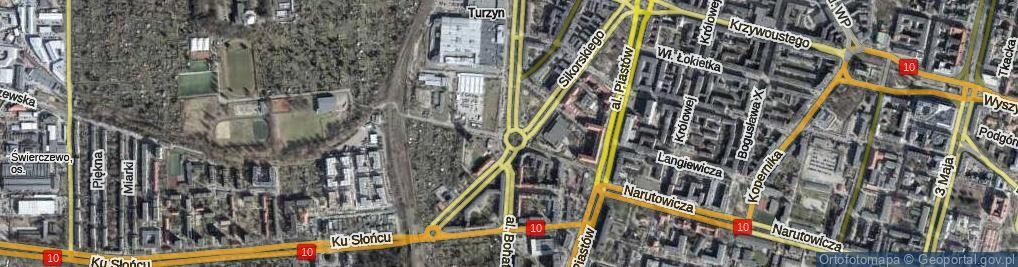 Zdjęcie satelitarne Rondo o. Władysława Siwka rondo.