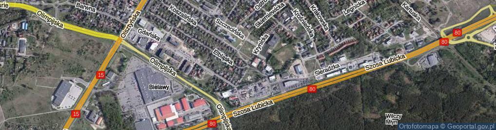 Zdjęcie satelitarne Rondo Bielawy rondo.