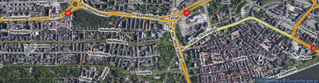 Zdjęcie satelitarne Rondo Herberta Zbigniewa rondo.