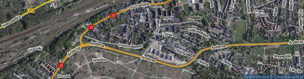 Zdjęcie satelitarne Rondo Kuronia Jacka rondo.
