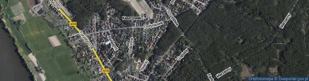 Zdjęcie satelitarne Roślinna ul.
