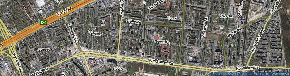 Zdjęcie satelitarne Rohatyńska ul.