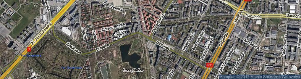 Zdjęcie satelitarne Rondo Pniewskiego Bohdana rondo.
