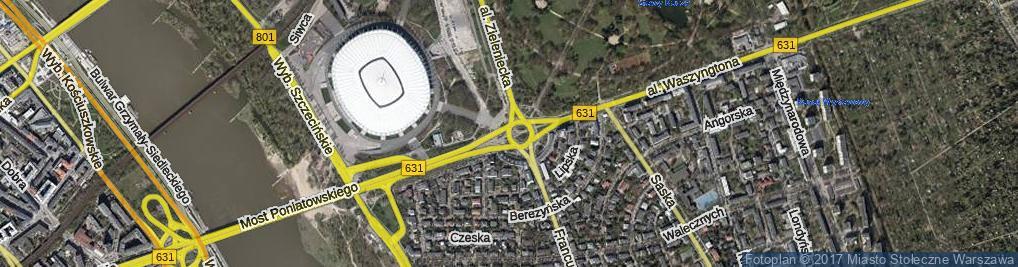 Zdjęcie satelitarne Rondo Waszyngtona Jerzego rondo.