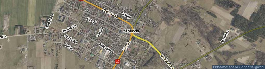 Zdjęcie satelitarne Rondo Zabłockiego Macieja, dr. rondo.