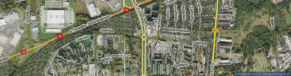Zdjęcie satelitarne Rondo Kaczyńskiego Lecha, Prezydenta RP rondo.