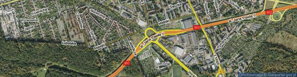 Zdjęcie satelitarne Rondo Sybiraków rondo.