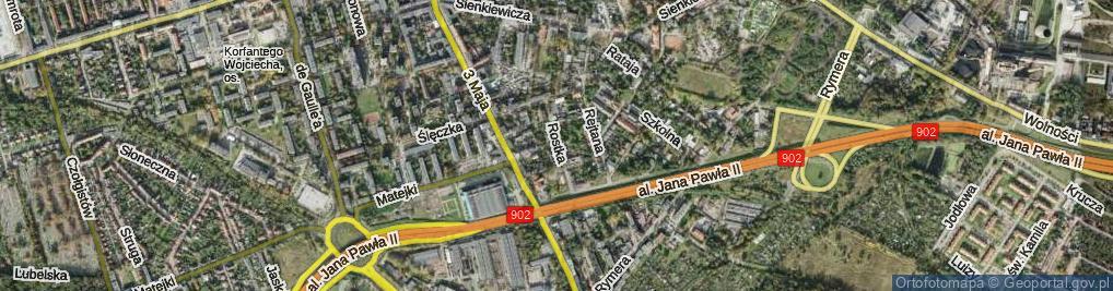 Zdjęcie satelitarne Rostka Józefa ul.
