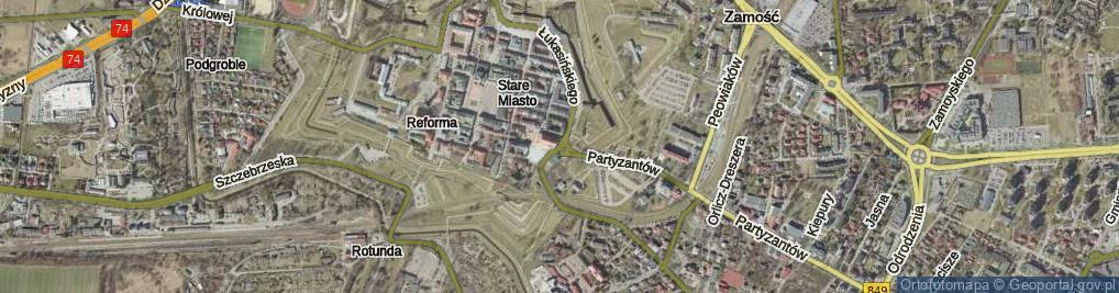 Zdjęcie satelitarne Rondo Braci Pomarańskich rondo.