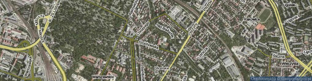 Zdjęcie satelitarne Rusałek ul.
