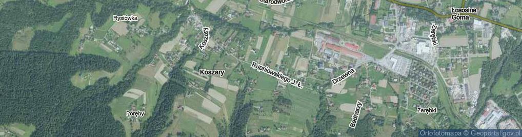 Zdjęcie satelitarne Rupniowskiego Joachima Łukasza ul.