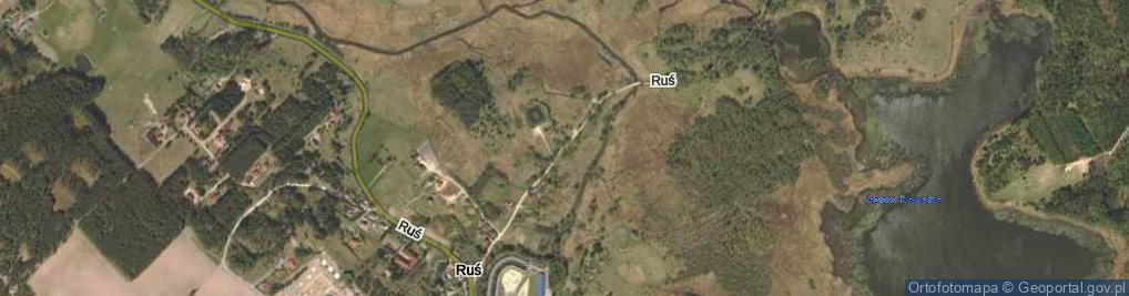 Zdjęcie satelitarne Ruś ul.