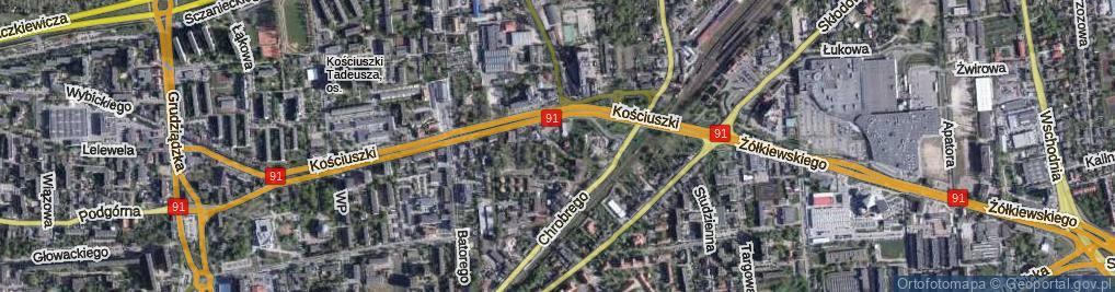 Zdjęcie satelitarne Rubinkowskiego Jakuba ul.