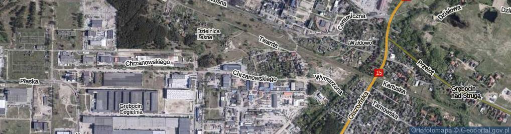 Zdjęcie satelitarne Rudego ul.