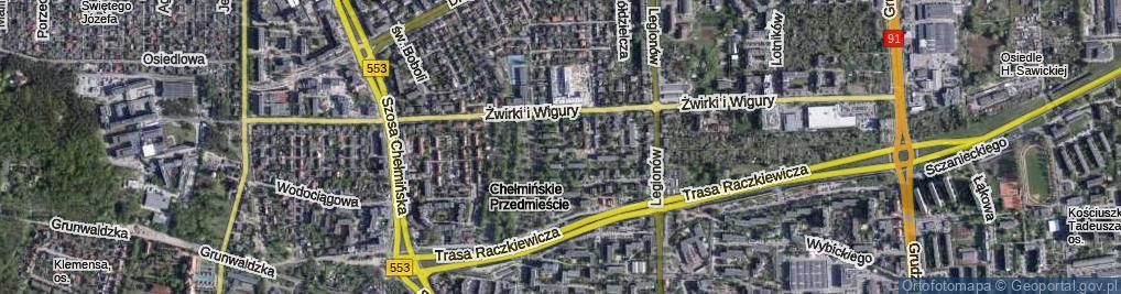 Zdjęcie satelitarne Rusa ul.