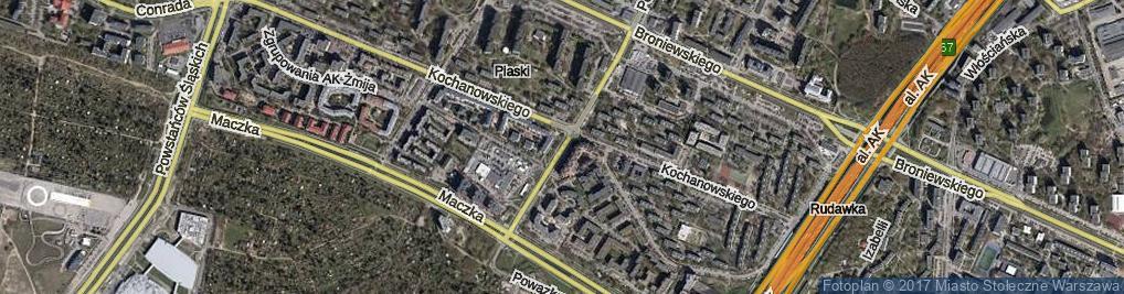 Zdjęcie satelitarne Rudnickiego Klemensa Stanisława, gen. ul.