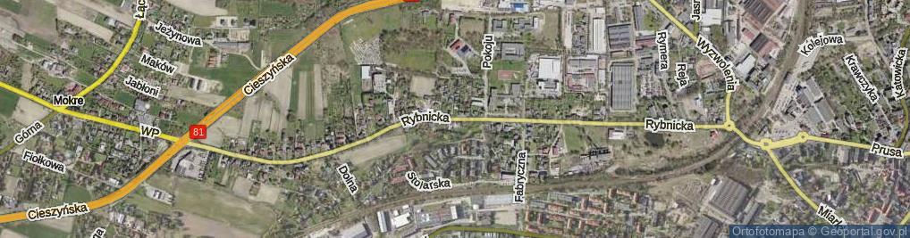 Zdjęcie satelitarne Rybnicka ul.
