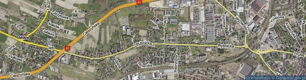 Zdjęcie satelitarne Rymarska ul.