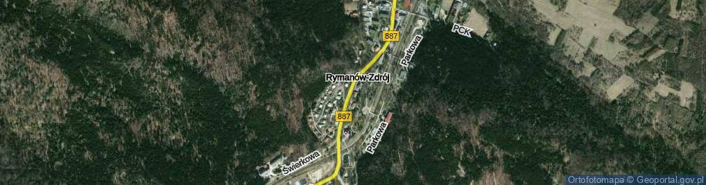 Zdjęcie satelitarne Rymanów-Zdrój ul.