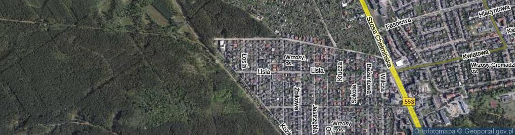 Zdjęcie satelitarne Rysia ul.